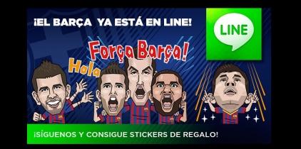 El FC Barcelona ya está en Line