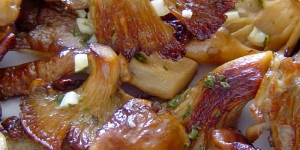 Degustación de cazuelitas de setas